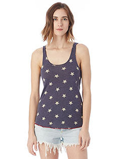 Alternative Ladies' Printed Racerback Eco-Jersey Tank