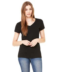 Bella Ladies Jersey Short Sleeve V Neck