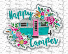 Load image into Gallery viewer, Enamel Pin Happy Camper Choose Pin or Magnetic clasp