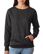 Load image into Gallery viewer, J America Ladies' Glitter French Terry Crew