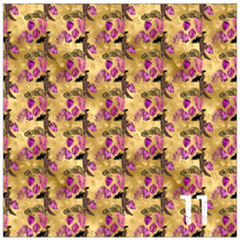 Load image into Gallery viewer, Printed Heat Transfer Vinyl HTV PURPLE + GOLD LEOPARD 12 x 12 inch sheet