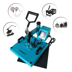 "StarCraft 15"" x 15"" 8-in-1 Swing Away Heat Press - Turquoise"