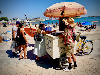 14-Year-Old Arlo Kraus is Serving Up Ice Cream, Popsicles and Nostalgia with his Bicycle Cart Throughout Dana Point