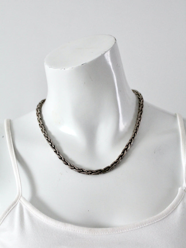vintage rope chain necklace
