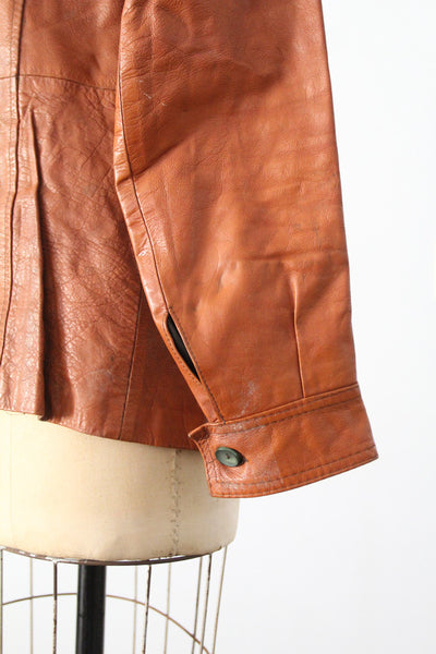 vintage 70s leather rocker jacket