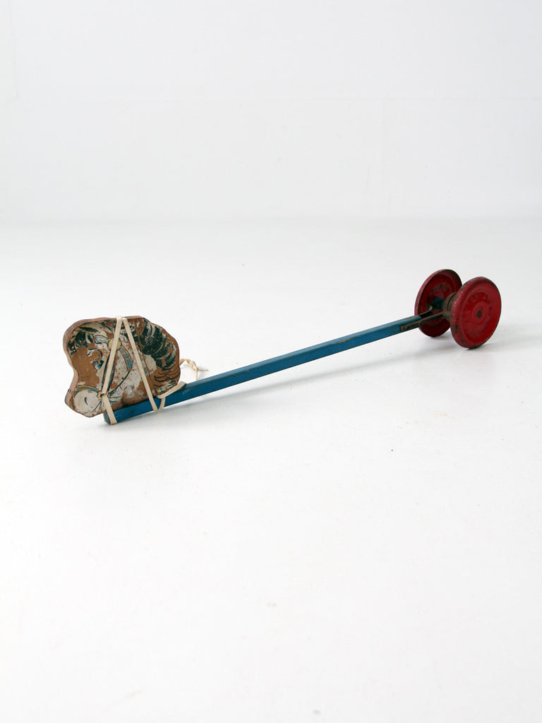 vintage N.N. Hill Brass Company children's pull toy