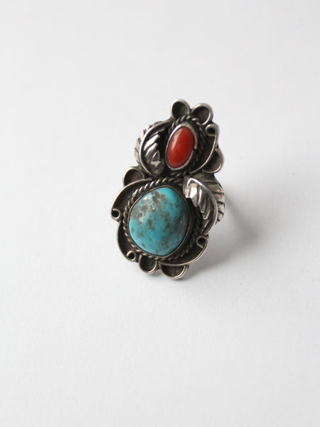 vintage 70s turquoise ring