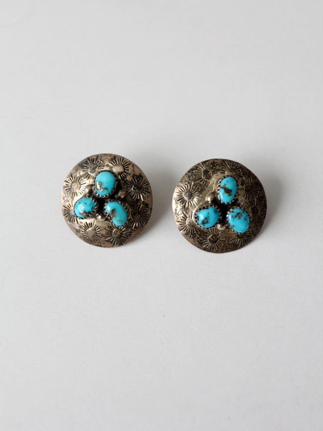 vintage sterling silver and turquoise earrings