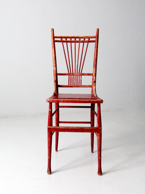 antique tall spindle back chair