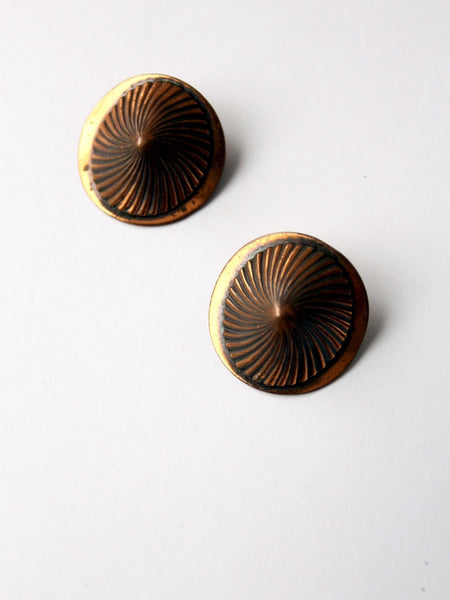 vintage 1940s copper earrings