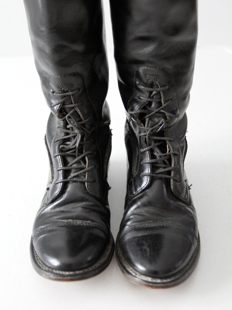 vintage black equestrian boots by The Emmerson Boot, size 6.5