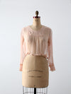 antique Edwardian pink silk blouse