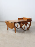 vintage wagon wheel table