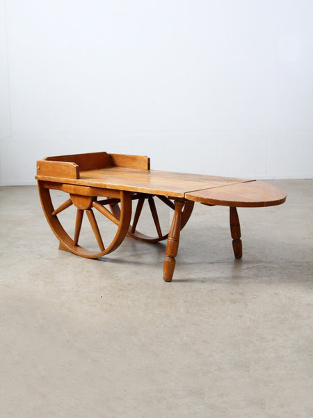 Monterey style wagon wheel coffee table circa 1940s