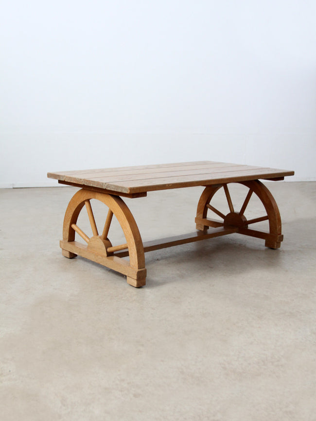"Monterey style ""wagon wheel"" coffee table circa 1940"