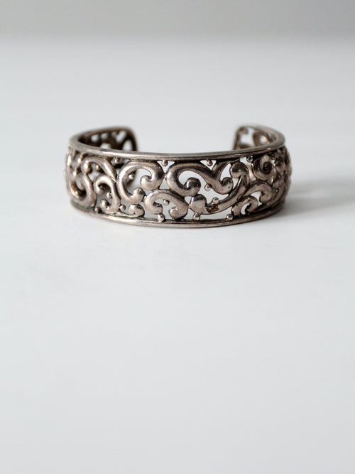 vintage sterling silver cuff by Barse
