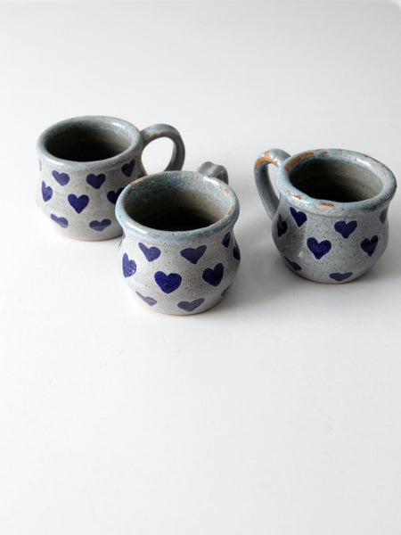 vintage Metzger studio pottery mugs collection