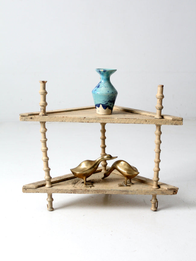 Victorian spool shelf stand