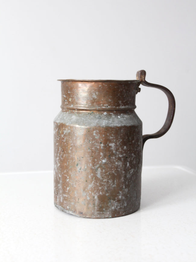 antique copper jug pitcher