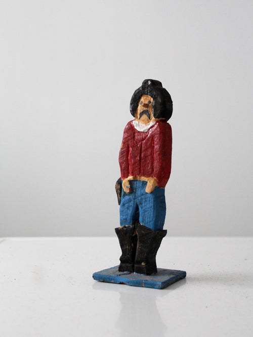 western folk art cowboy figure