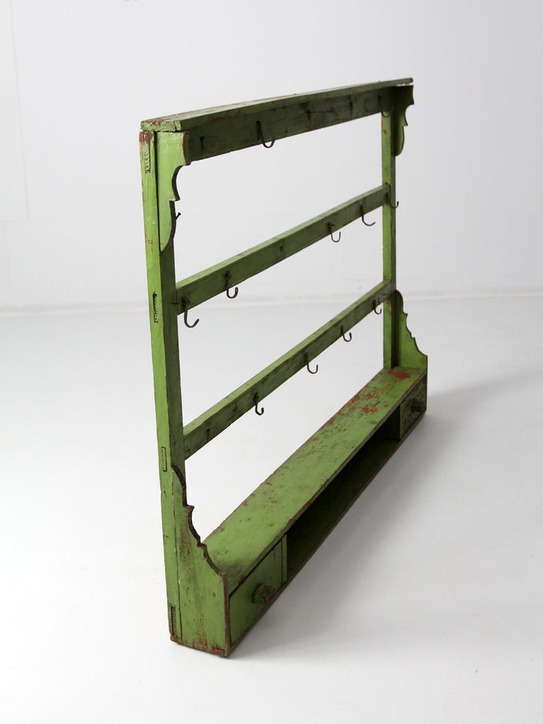 antique wood kitchen rack