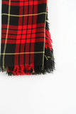 vintage red plaid wool scarf