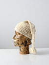 vintage knit ski hat with long tassel