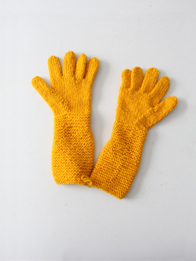 vintage hand knit gloves