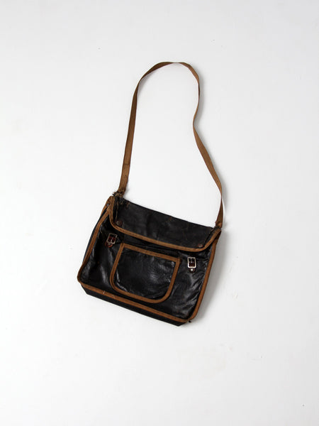 vintage 20s school messenger bag
