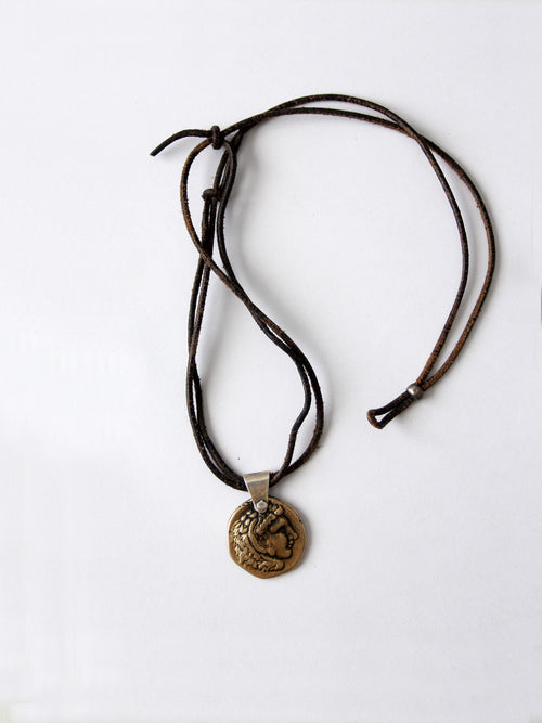 Alexander the Great coin pendant necklace