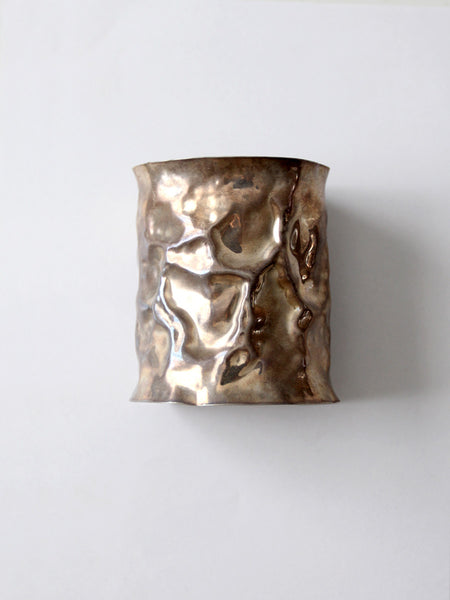 vintage 70s reticulated metal cuff