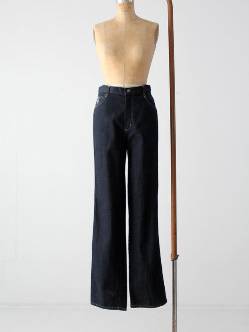 vintage 70s Yes flare leg jeans, 32 x 35