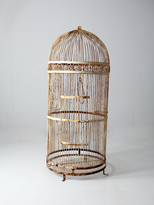 antique large iron bird cage