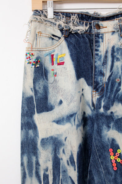 vintage 1980s custom denim jeans