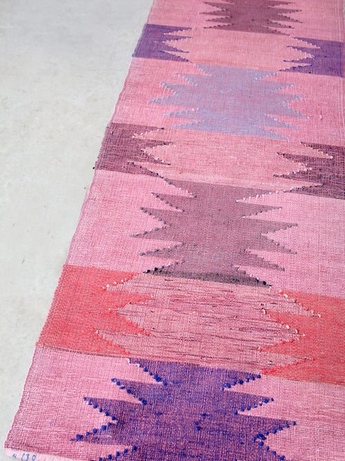 Swedish rag rug floor runner circa 1920,  13 feet 4 inch