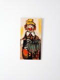 vintage clown painting