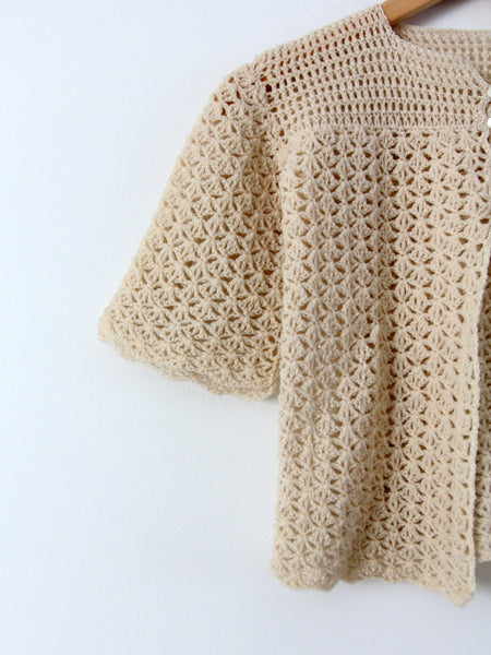 vintage crotchet top