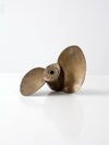 antique brass nautical propeller