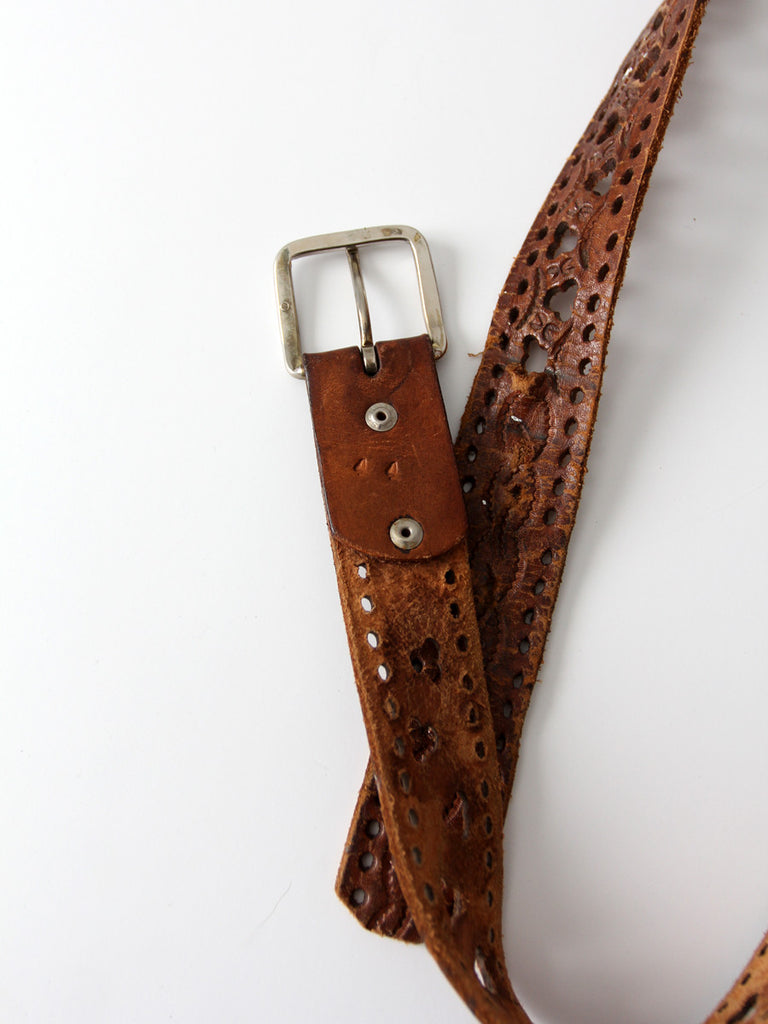 vintage 70s leather belt