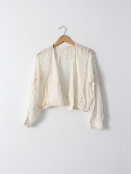 Edwardian blouse cardigan