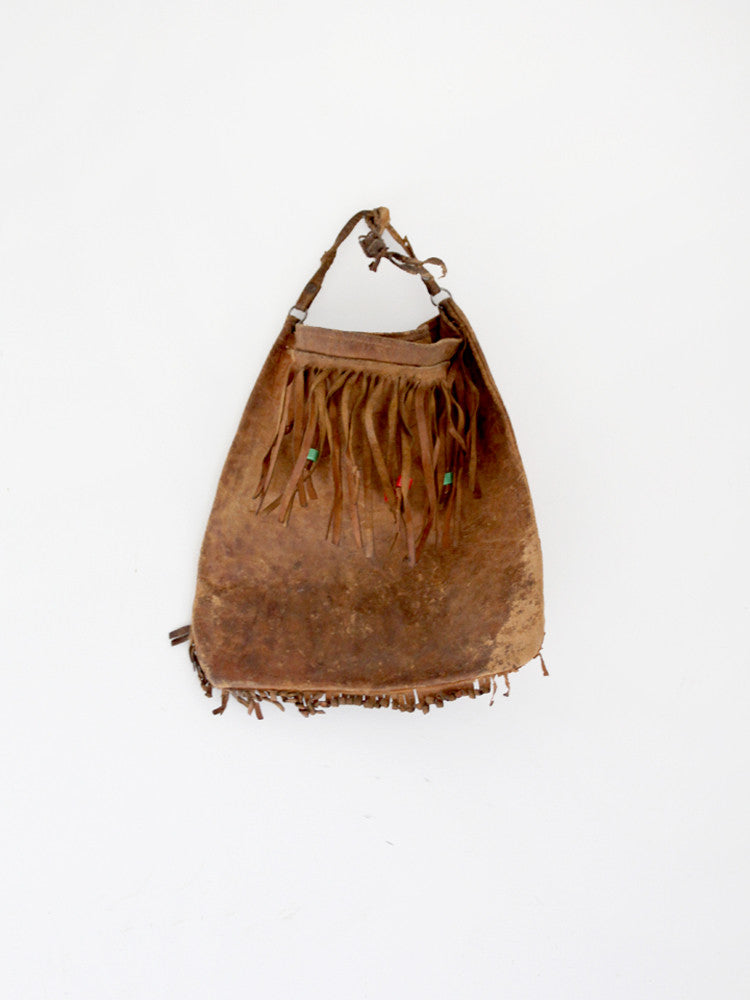 vintage fringe leather bag