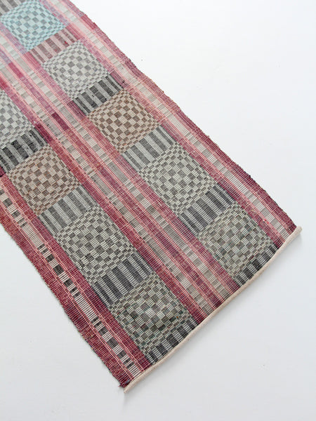 vintage Scandinavian floor runner, 10 feet