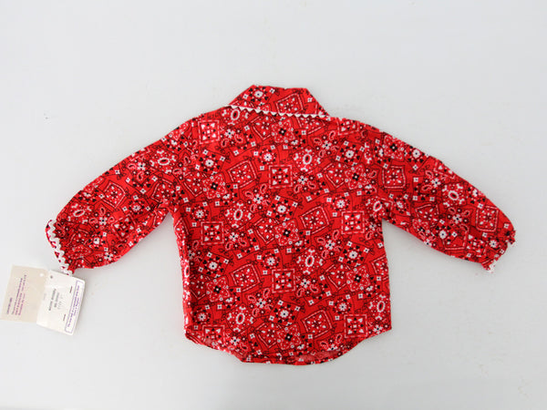 vintage bandana print children's blouse new old stock