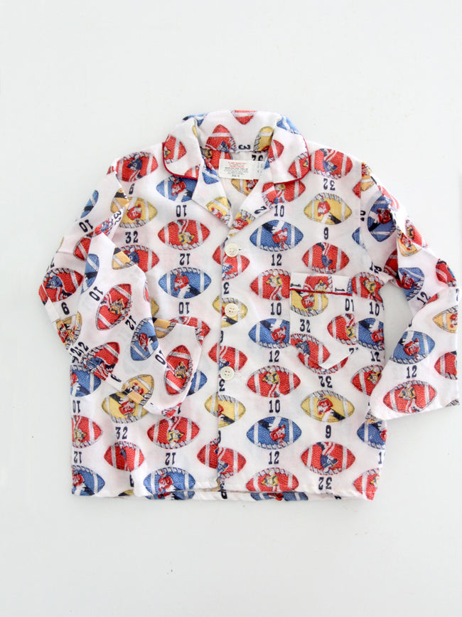 vintage children's football pajamas