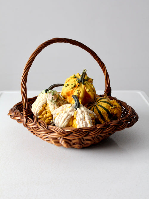 vintage harvest basket