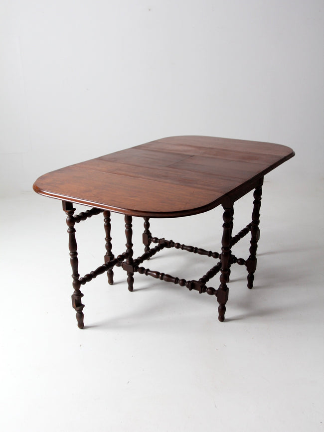antique drop leaf table with Jefferson Woodworking slides