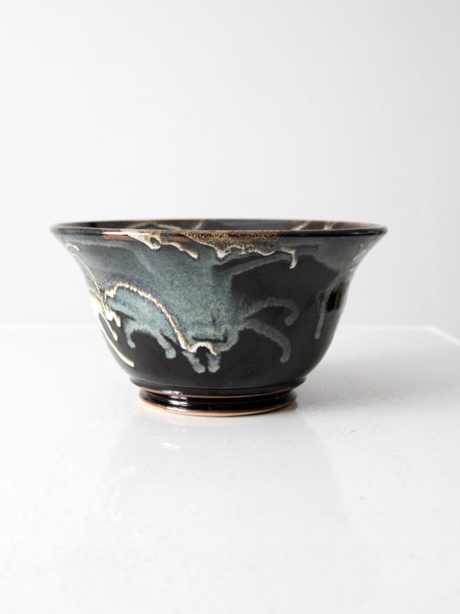 vintage decorative studio pottery bowl