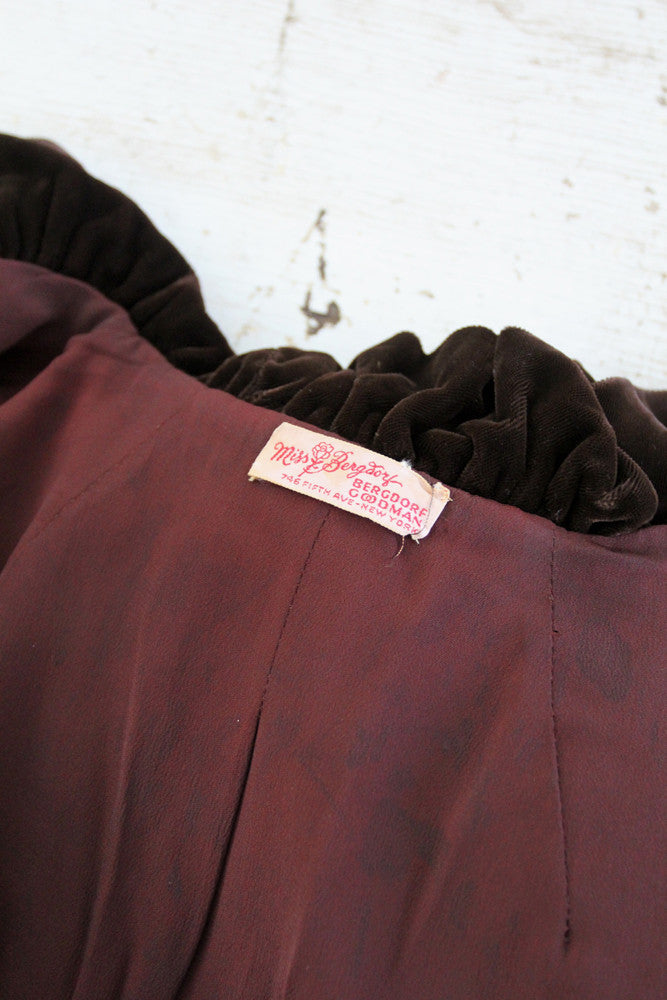 vintage Miss Bergdorf label