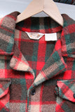 vintage 70s plaid wool coat by Career Club
