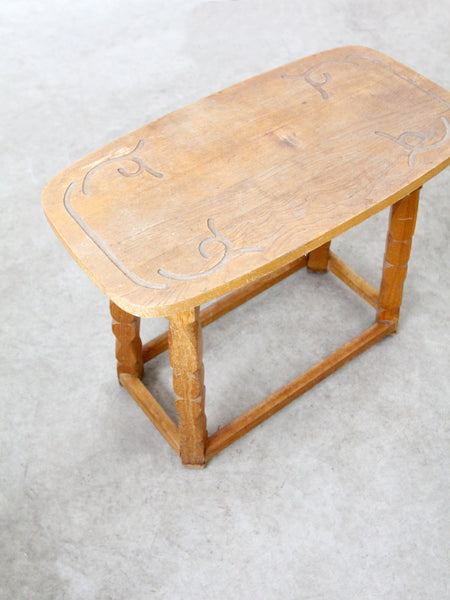 vintage Monterey style side table